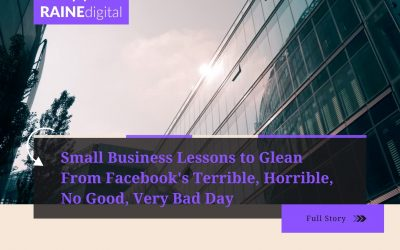 Small Business Lessons to Glean From Facebook's Terrible, Horrible, No Good, Very Bad Day